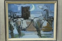 Dick Braam - Sneeuwlandschap bij maanlicht
