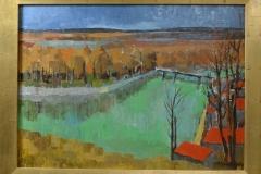 Eduard Jacquenoud - Gezicht op de Seine