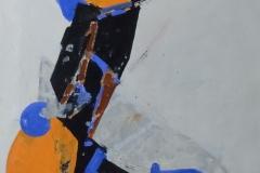 Cees Kortlang - Zonder titel Abstract oranje