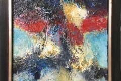 Marcel Kreuning - abstractie in blauw