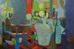 Vincent Richet - Stilleven met flessen en potten