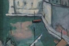 Josip Trostman - Gezicht op haven Dubrovnik